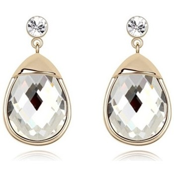 Watches Women Earrings Blue Pearls White Crystal Earrings and gold plated white Multicolored