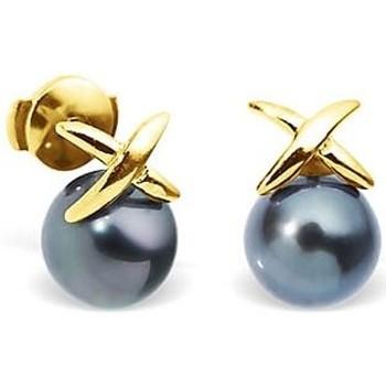 Watches & Jewellery  Women Earrings Blue Pearls BPS K352 W Gold