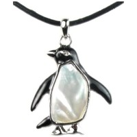 Watches Women Pendants Blue Pearls Mother of pearl Pendant Penguin Multicolored
