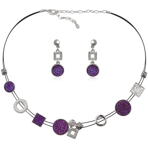 Watches & Jewellery  Women Jewelerry sets Blue Pearls CRY 8618 T Purple
