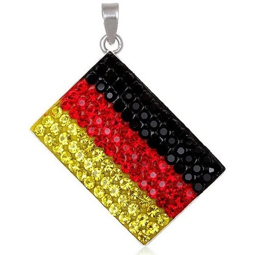 Watches Women Pendants Blue Pearls Germany Flag Crystal Pendant and 925 Silver Multicolored