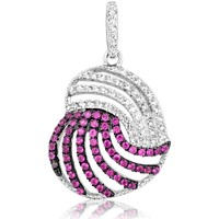 Watches Women Pendants Blue Pearls Red and white Swarovski Crystal Zirconia Heart Pendant and 925 S Multicolored