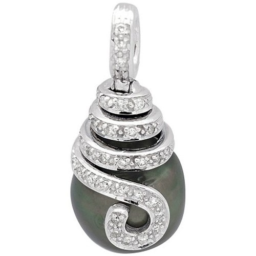 Watches Women Pendants Blue Pearls Diamonds, Tahitian Pearl Pendant and White Gold 750/1000 Multicolored