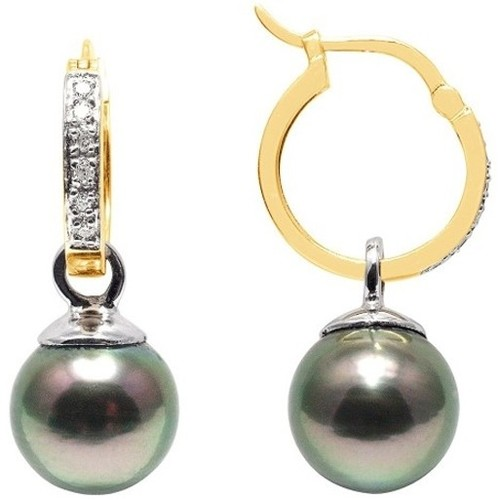 Watches Women Earrings Blue Pearls BPS K356 W Gold