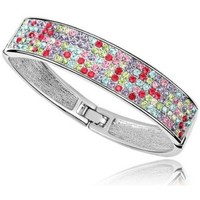 Watches Women Bracelets Blue Pearls Bangle Bracelet made with a Multicolor Crystal from Swarovski an Multicolored