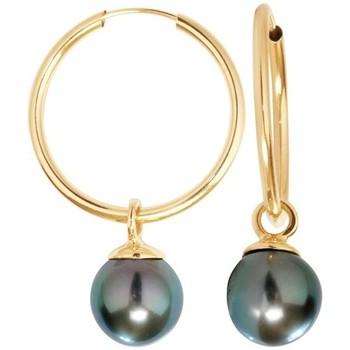 Watches Women Earrings Blue Pearls BPS K358 W Gold