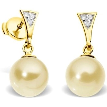 Watches Women Earrings Blue Pearls Gold Freshwater Pearl Diamond Earrings and yellow gold 750/1000 Multicolored