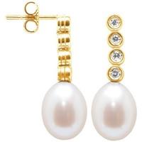 Watches & Jewellery  Women Earrings Blue Pearls BPS K359 W Multicolored