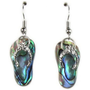 Watches Women Earrings Blue Pearls Abalone Tong Earrings Multicolored