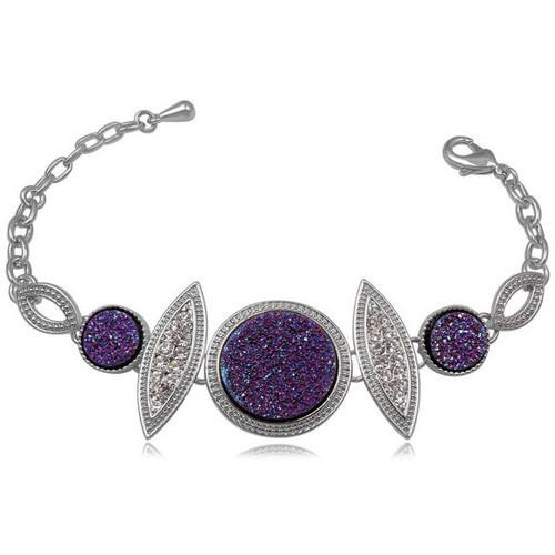 Watches Women Bracelets Blue Pearls CRY 8137 T Purple