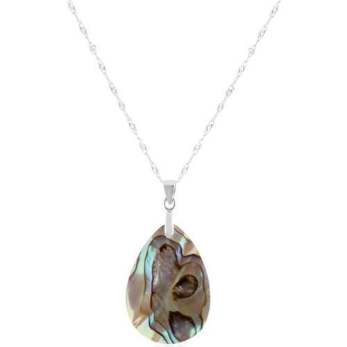 Watches Women Pendants Blue Pearls Abalone Pendant and Silver Mounting Multicolored