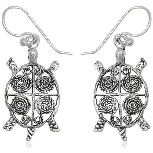 Watches Women Earrings Blue Pearls 925 Silver Turtle Dangling Earrings Other