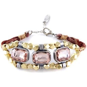Watches Women Bracelets Blue Pearls ETK 0152 Pink