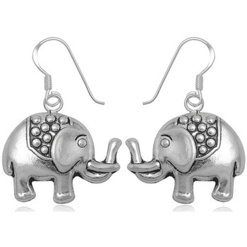 Watches Women Earrings Blue Pearls 925 Silver Elephant Dangling Earrings Other
