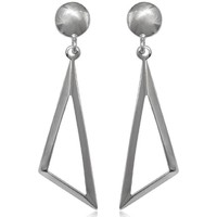 Watches Women Earrings Blue Pearls 925 Silver Triangle Dangle Earrings Other