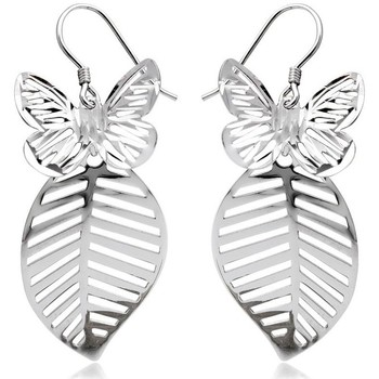Watches Women Earrings Blue Pearls 925 Silver Butterfly Dangling Earrings Multicolored