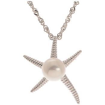 Watches Women Pendants Blue Pearls White Freshwater Pearl Starfish Pendant and Silver Mounting Multicolored