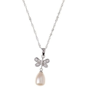 Watches Women Pendants Blue Pearls White or Black Freshwater Pearl Butterfly Pendant and 925 Silver White