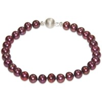 Watches Women Bracelets Blue Pearls Red Cranberry Freshwater Pearl Bracelet and 925 Silver Clasp Multicolored