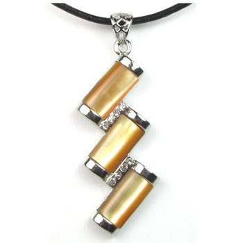 Watches Women Pendants Blue Pearls Yellow Mother of Pearl and sparkling Cz Stone Rectangles Pendant Multicolored