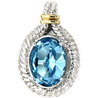 Watches Women Pendants Blue Pearls Blue Swarovski Elements Crystal and 925 Silver Pendant Multicolored