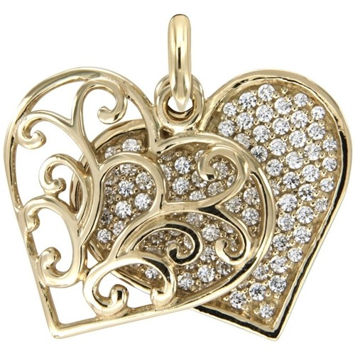 Watches Women Pendants Blue Pearls White Swarovski Crystal Elements and 925 Silver and Gold Heart P Multicolored
