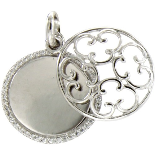 Watches Women Pendants Blue Pearls White Swarovski Crystal Elements and 925 Silver circle Pendant Multicolored