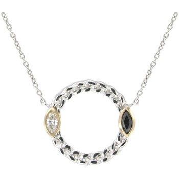 Watches Women Necklaces Blue Pearls White and Black Swarovski Crystal Elements and 925 Silver circle Multicolored