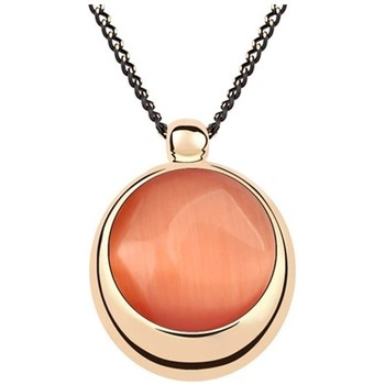 Watches Women Pendants Blue Pearls Orange Synthetic Stone Circle Pendant Gold