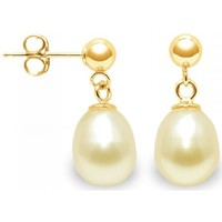 Watches Women Earrings Blue Pearls Gold Freshwater Pearls Earrings and yellow gold 750/1000 Multicolored