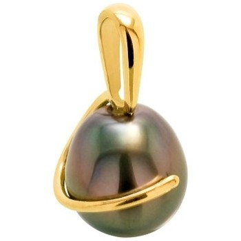 Watches Women Pendants Blue Pearls Black Tahitian Pearl Pendant and Yellow Gold 375/1000 Multicolored