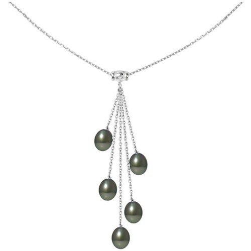 Watches Women Necklaces Blue Pearls 5 Tahitian Pearls and 925 Sterling Silver Woman Necklace Mother Of Pearl