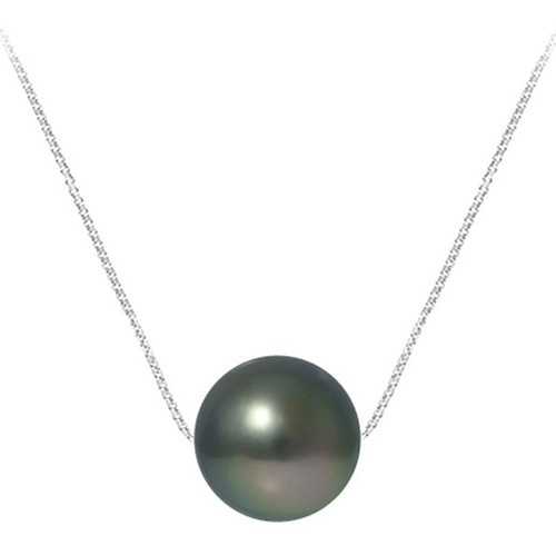 Watches Women Necklaces Blue Pearls Black Tahitian Pearl Necklace and Sterling Silver 925 Multicolored