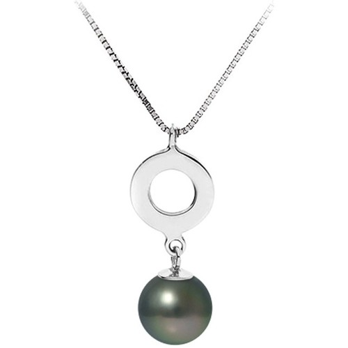 Watches Women Necklaces Blue Pearls Black Tahitian Pearl Pendant Necklace and Sterling Silver 925 Multicolored