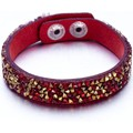 Watches Women Bracelets Blue Pearls Gold and Red Swarovski Crystal Elements and red leather Bracelet Multicolored
