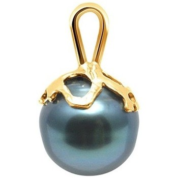 Watches Women Pendants Blue Pearls Black Tahitian Circled Pearl Pendant and Yellow Gold 375/1000 Multicolored