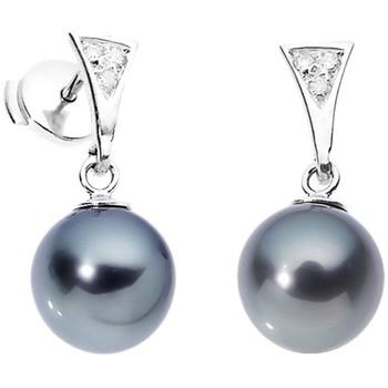 Watches Women Earrings Blue Pearls BPS K313 W White