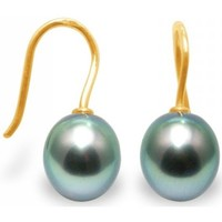 Watches Women Earrings Blue Pearls Tahitian Pearl Earrings and yellow gold 375/1000 Multicolored