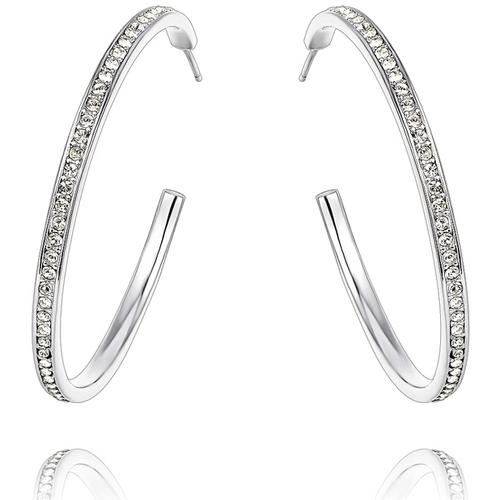 Watches & Jewellery  Women Earrings Blue Pearls CRY B341 W White