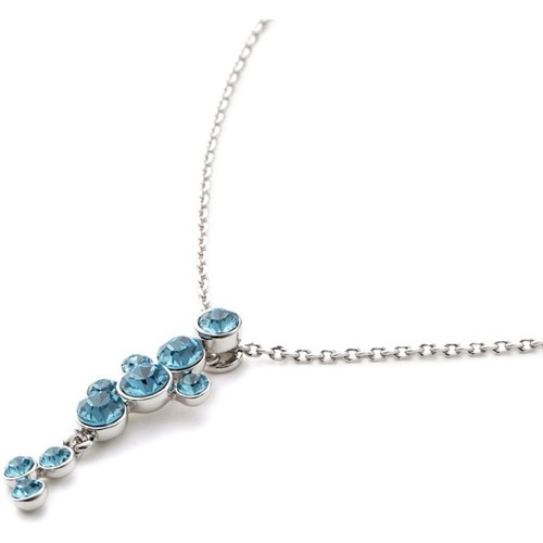 Watches Women Necklaces Blue Pearls Waterfall Necklace made with Blue Swarovski Crystal Elements Multicolored