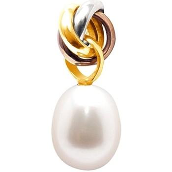 Watches Women Pendants Blue Pearls BPS K248 W BLC White
