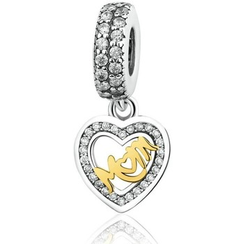 Watches Women Jewellery Blue Pearls 925 Silver Mother Heart Pendant Charms Bead Multicolored