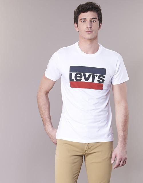 2020 Newest Levi's GRAPHIC SPORTSWEAR LOGO White 6993462 Men's Clothing