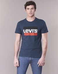 Clothing Men short-sleeved t-shirts Levi's GRAPHIC SPORTSWEAR LOGO Marine