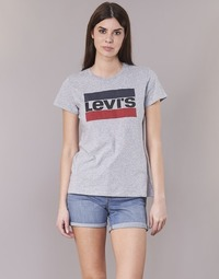 Clothing Women short-sleeved t-shirts Levi's THE PERFECT TEE Grey