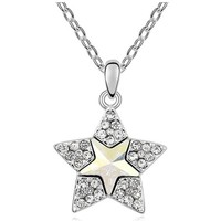 Watches Women Pendants Blue Pearls White Swarovski Element Crystal Star Pendant Multicolored