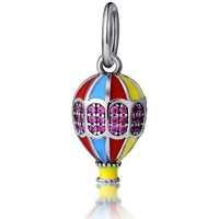 Watches Women Pendants Blue Pearls 925 Silver Balloon Travel Charms bead Multicolored