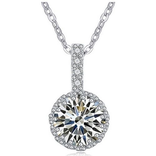 Watches Women Pendants Blue Pearls White Cubic Zirconia Crystal Pendant and Rhodium Plated Multicolored