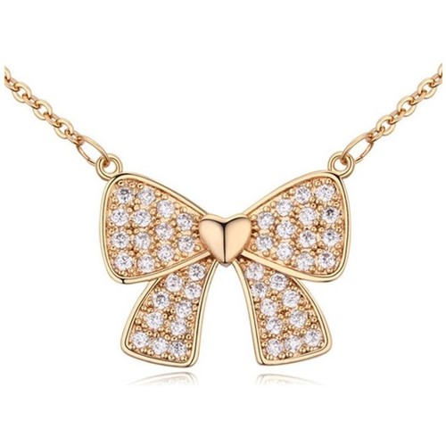 Watches Women Pendants Blue Pearls White Cubic Zirconia Crystal Node Pendant and Yellow Gold Plated Multicolored