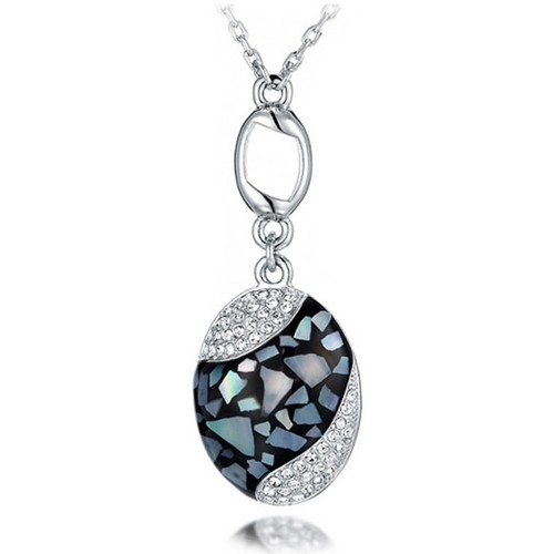 Watches Women Pendants Blue Pearls Abalone Pendant and White Swarovski Crystal Elements Multicolored